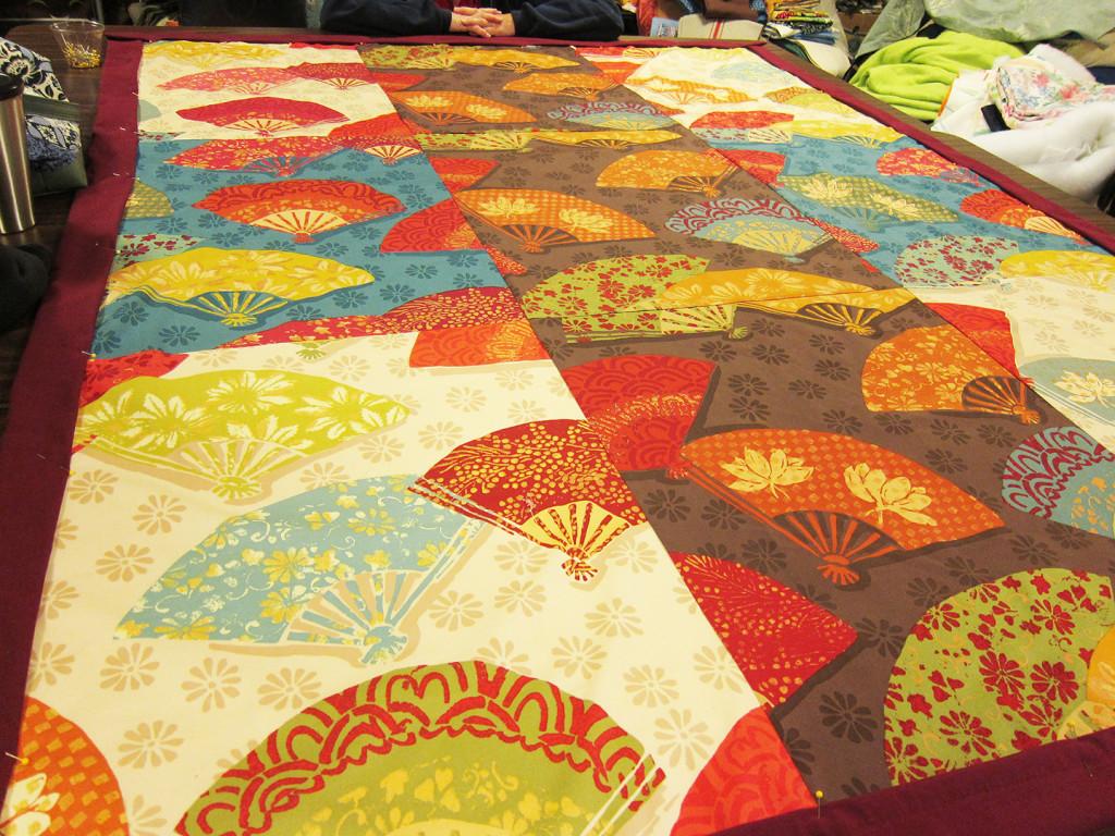 beautiful fan quilt